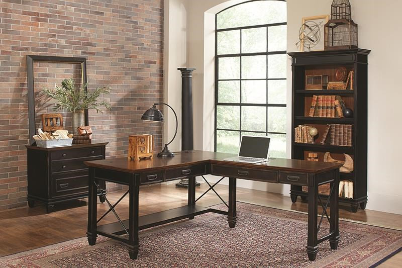 Hartford L Desk With Right Return by Martin Home Furnishings at Darvin Furniture