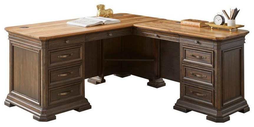 Sonoma PEDESTAL DESK With RETURN by Martin Home Furnishings at Johnny Janosik