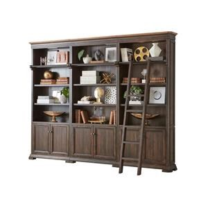 THREE BOOKCASES And DECORATIVE LADDER