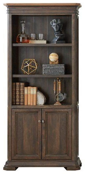 Sonoma Bookcase with Doors by Martin Home Furnishings at Johnny Janosik