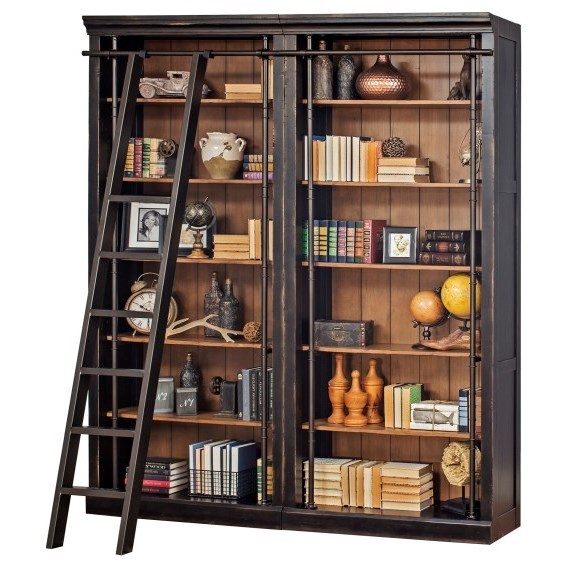 Toulouse Bookcase and Ladder by Martin Home Furnishings at Darvin Furniture