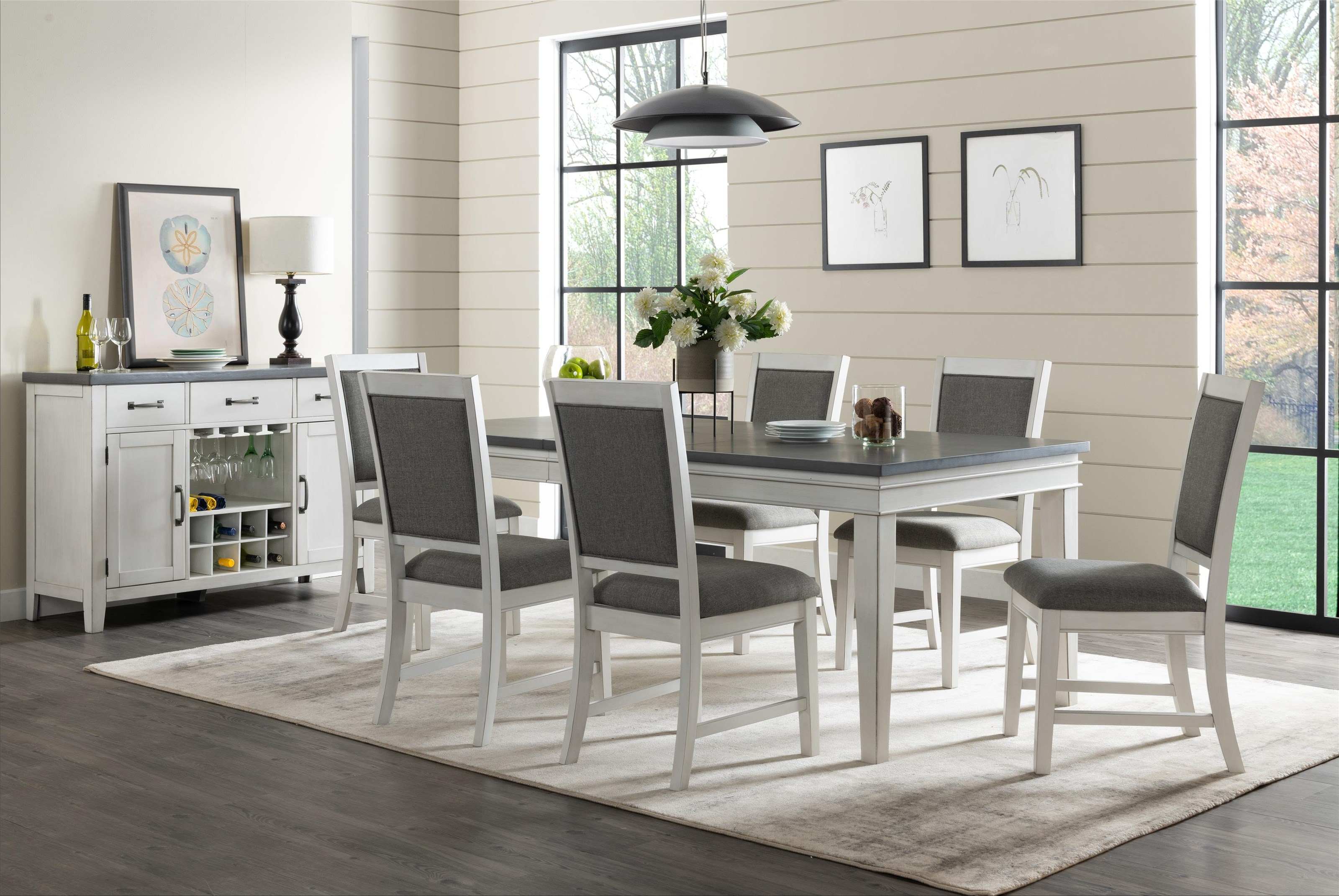 8 Piece Two-Tone Dining Set with Server