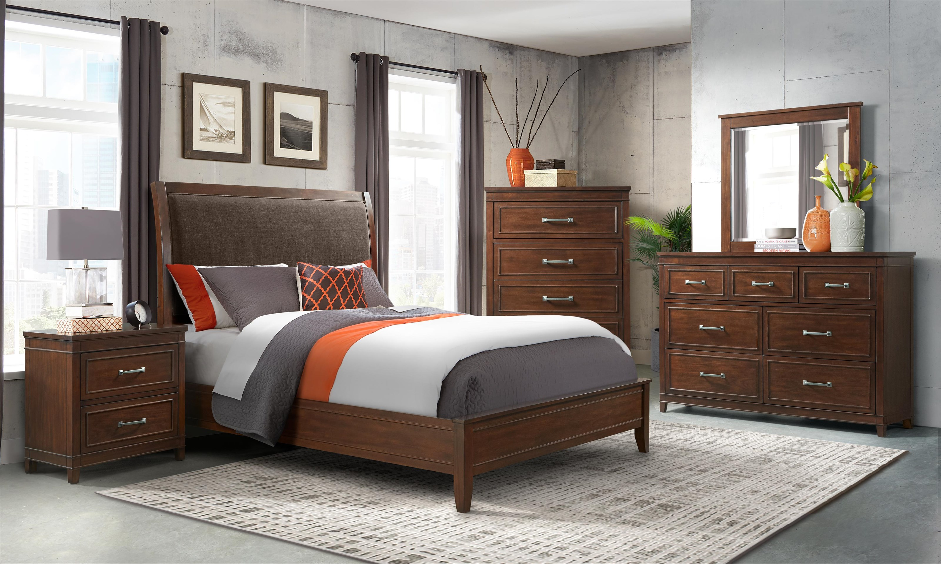 LaJolla Queen Size Bed by Martin Svensson Home at Darvin Furniture