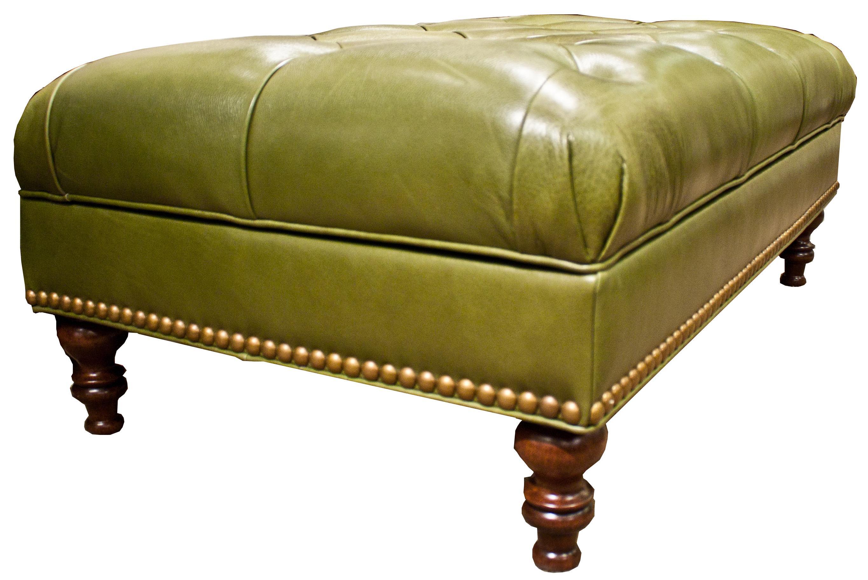 Massoud Ottomans Leather Storage Ottoman by Massoud at Jacksonville Furniture Mart
