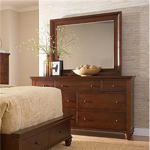 MasterCraft Manhattan Dresser and Mirror