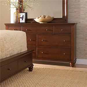 MasterCraft Manhattan 7 Drawer Dresser