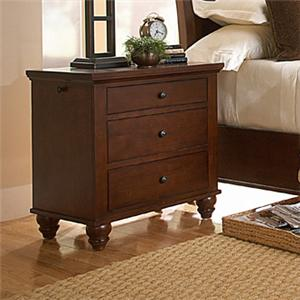 MasterCraft Manhattan 3 Drawer Nightstand