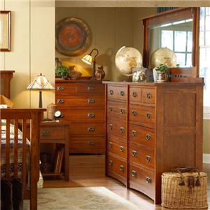 MasterCraft Prairie Mission Dresser and Mirror