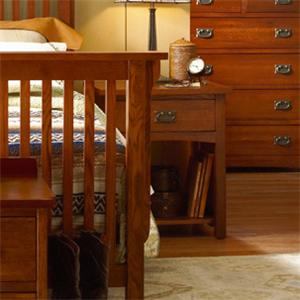 MasterCraft Prairie Mission 1 Drawer Nightstand