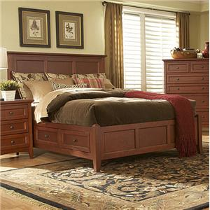 MasterCraft Simply Shaker Queen Storage Bed