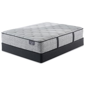 """Cal King Plush Hybrid Mattress and 6"""" Low Profile Steel Foundation"""