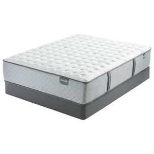 """King 14 3/4"""" Extra Firm Pocketed Coil Mattress and 6"""" Low Profile Steel Foundation"""