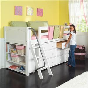 Low Loft Bed with Underbed Storage