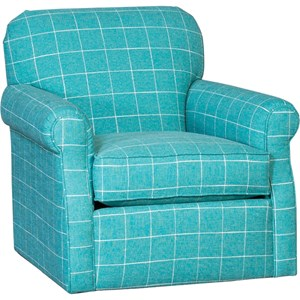 Casual Swivel Glider with Rolled Arms