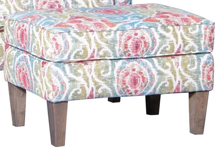 1421 Ottoman by Mayo at Wilcox Furniture