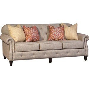 Transitional Tufted Sofa with Nailhead Detail