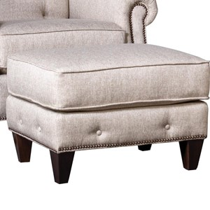 Transitional Ottoman with Button Tufting and Nailheads