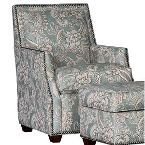 Lounge Chair with Nailhead Trim