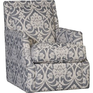 Swivel Glider Chair with Flared Arms