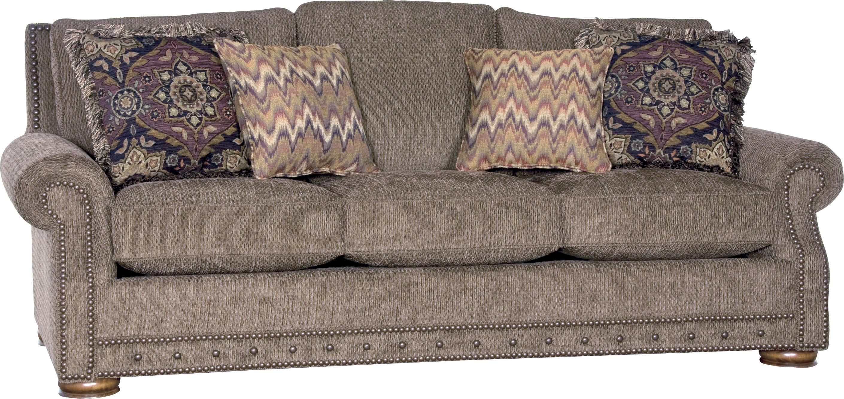 2900 Traditional Sofa by Mayo at Miller Waldrop Furniture and Decor