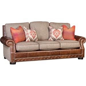 Rolled Arm Sofa w/ Nailhead Trim