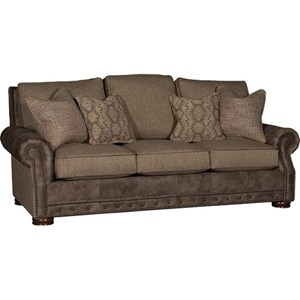 Rolled Arm Sofa w/ Nailhead Trim