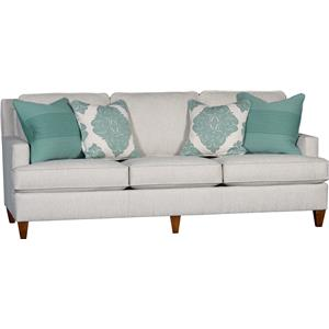 Sofa with Tapered Wood Legs