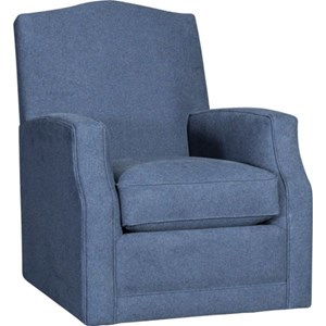 Transitional Swivel Glider Chair