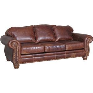 Traditional 3-Seat Stationary Sofa