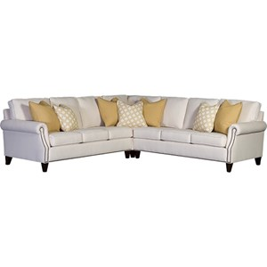 Transitional 6-Seat Sectional Sofa