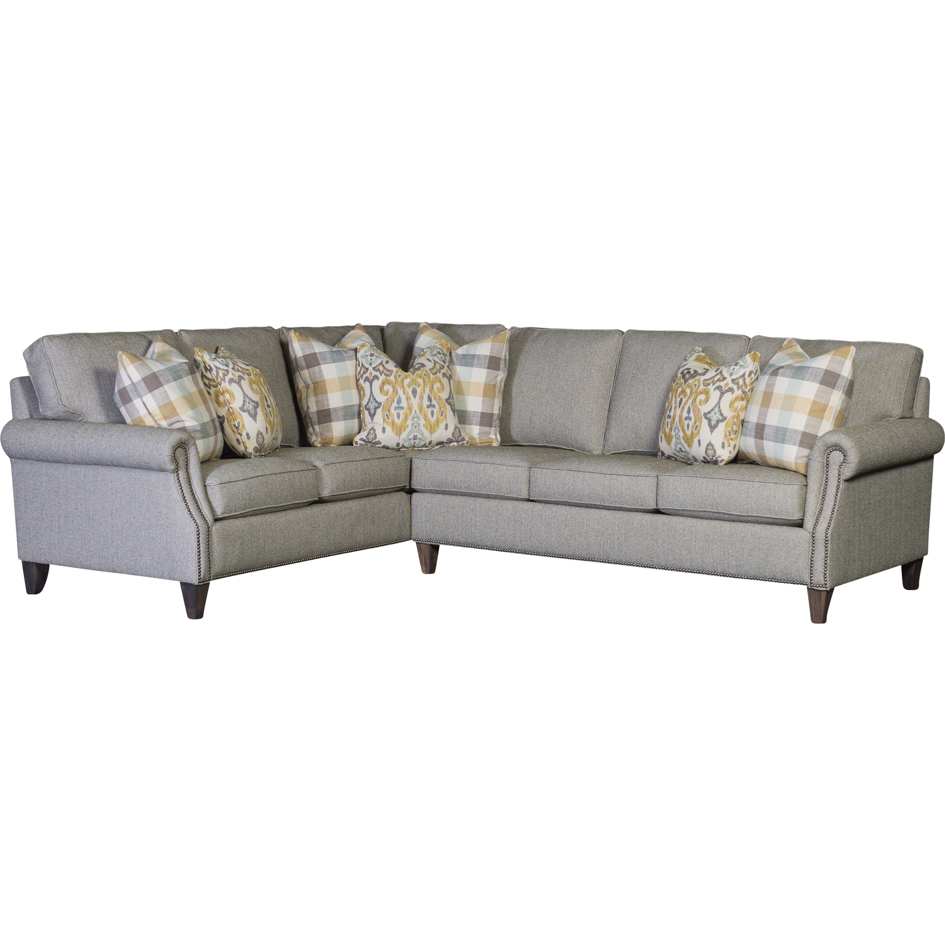 3311 5 Seat Sectional by Mayo at Wilson's Furniture
