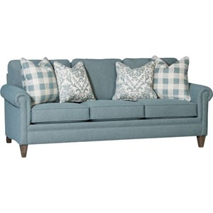 "Transitional Sofa with Two 22"" Throw Pillows"