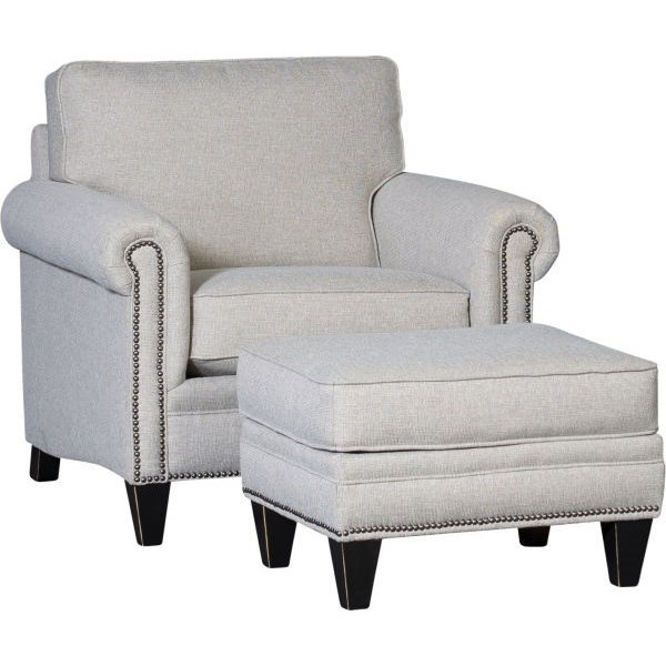 3949 Chair and Ottoman by Mayo at Wilson's Furniture