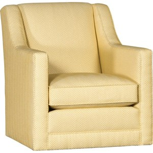 Modern Swivel Glider with Angled Arms