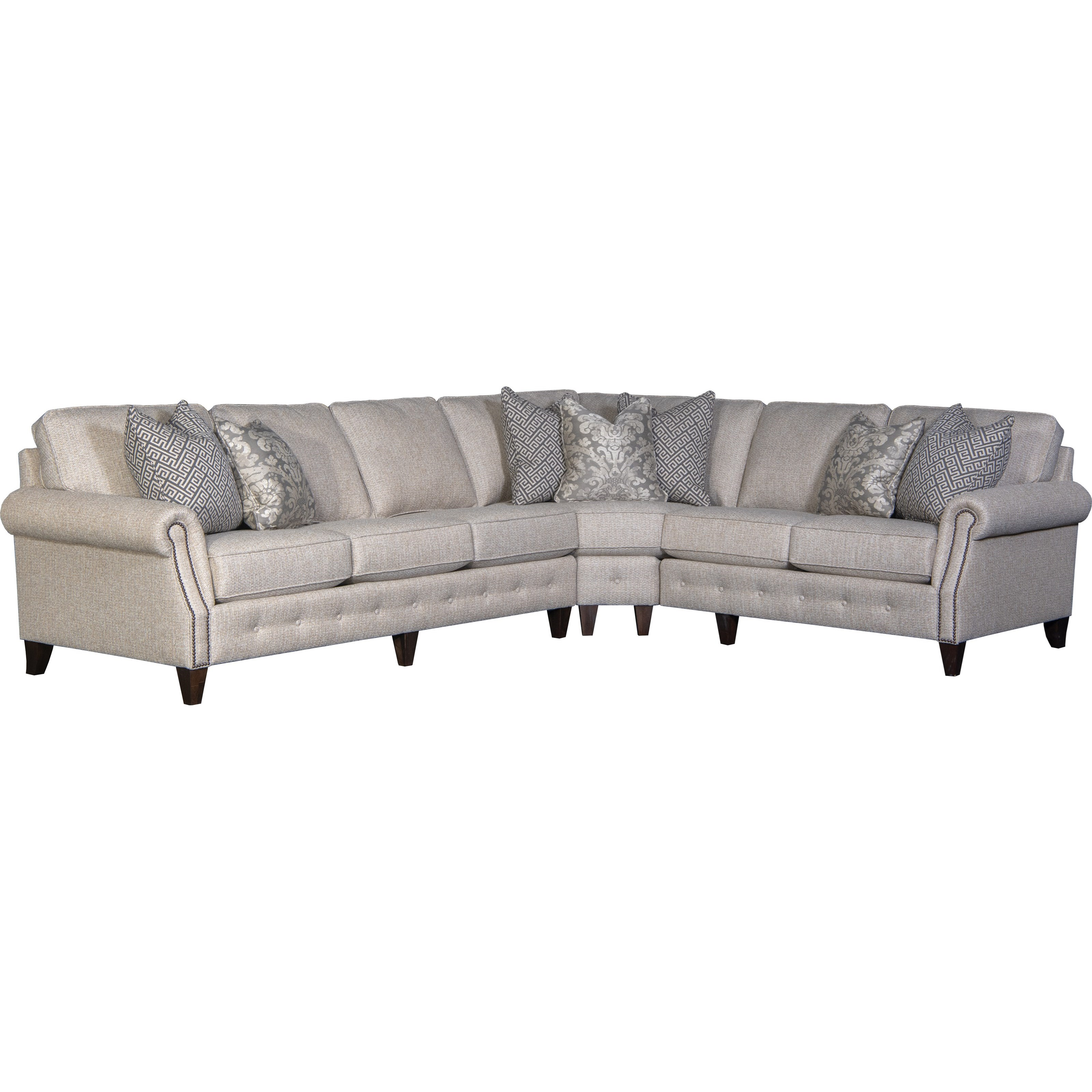 4040 5-Seat Sectional Sofa w/ LAF Sofa by Mayo at Wilcox Furniture