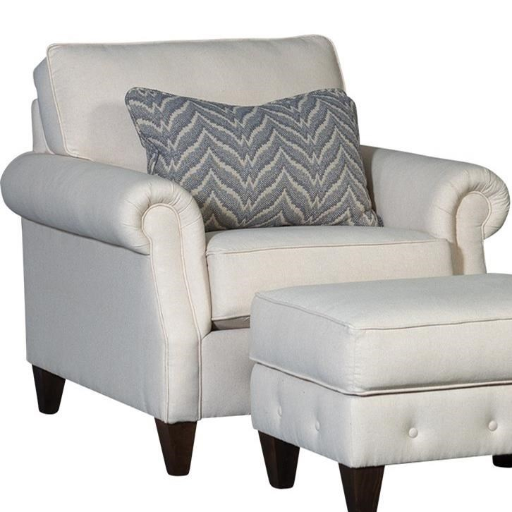 4040 Transitional Chair by Mayo at Wilson's Furniture
