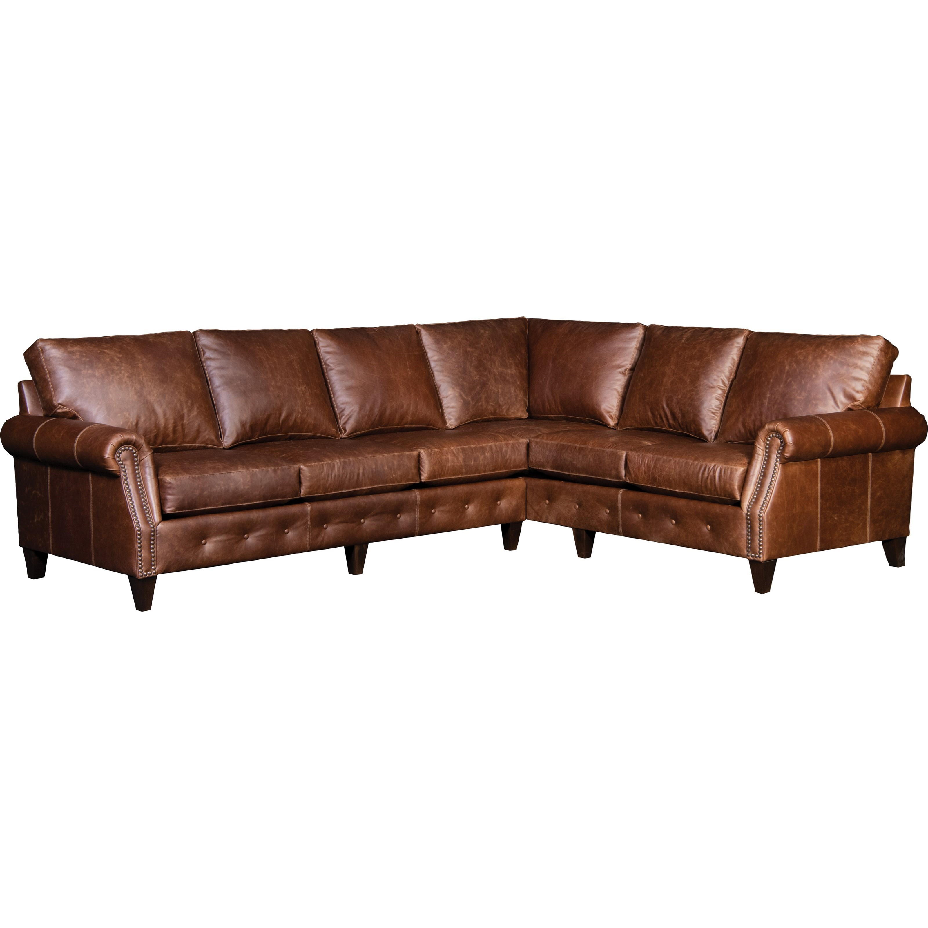 4040 5-Seat Sectional Sofa w/ LAF Sofa by Mayo at Pedigo Furniture