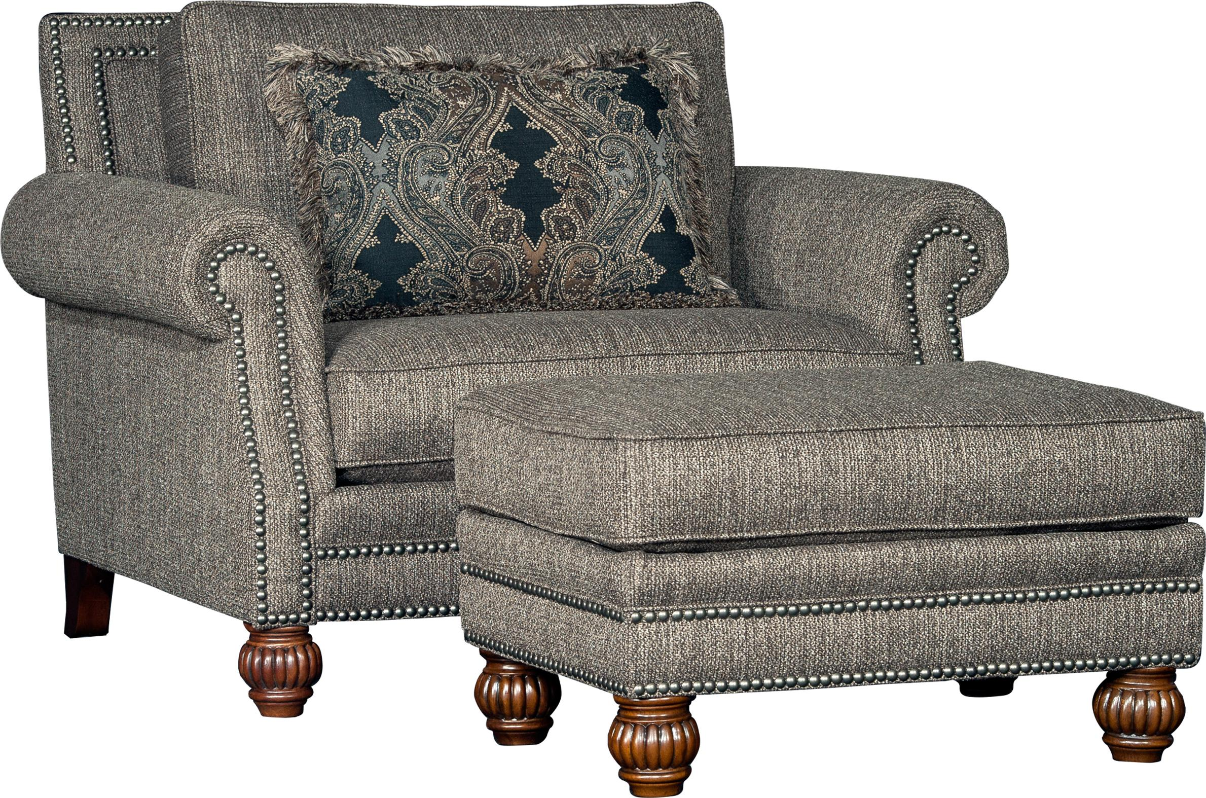 4300 Mayo Traditional Chair and Ottoman Set by Mayo at Wilson's Furniture
