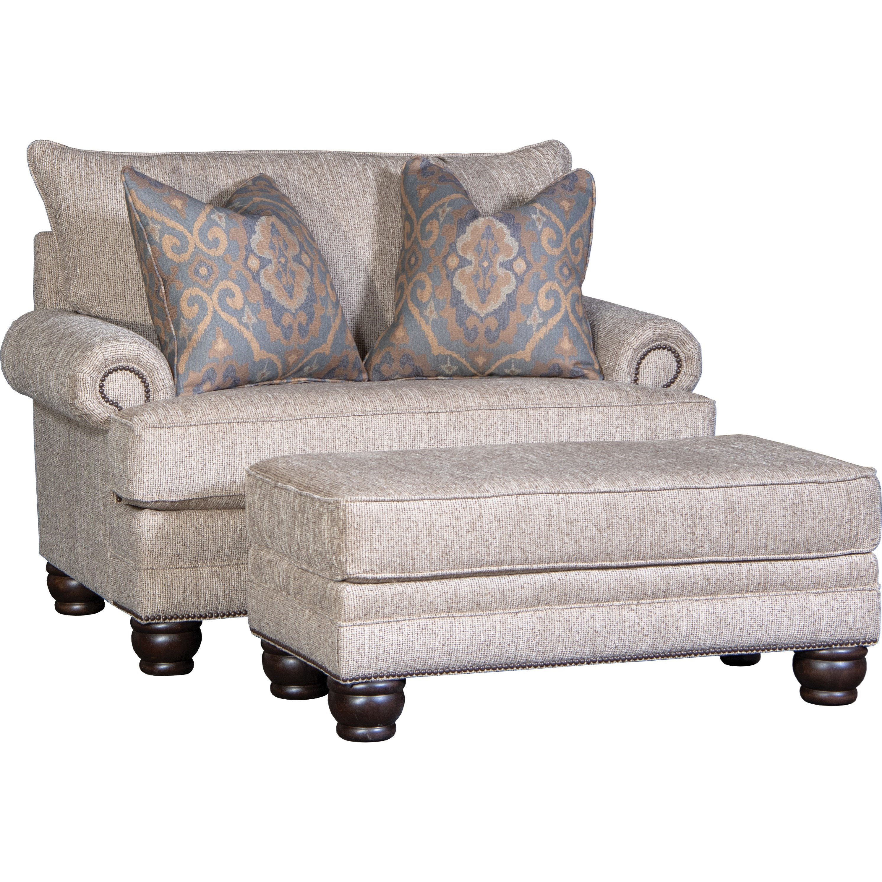 5260 Chair & Ottoman Set by Mayo at Wilson's Furniture