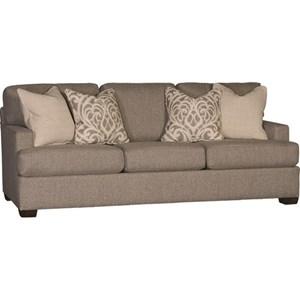 Casual Sofa with Four Throw Pillows