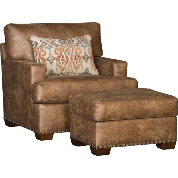 5300 Chair and Ottoman by Mayo at Wilson's Furniture