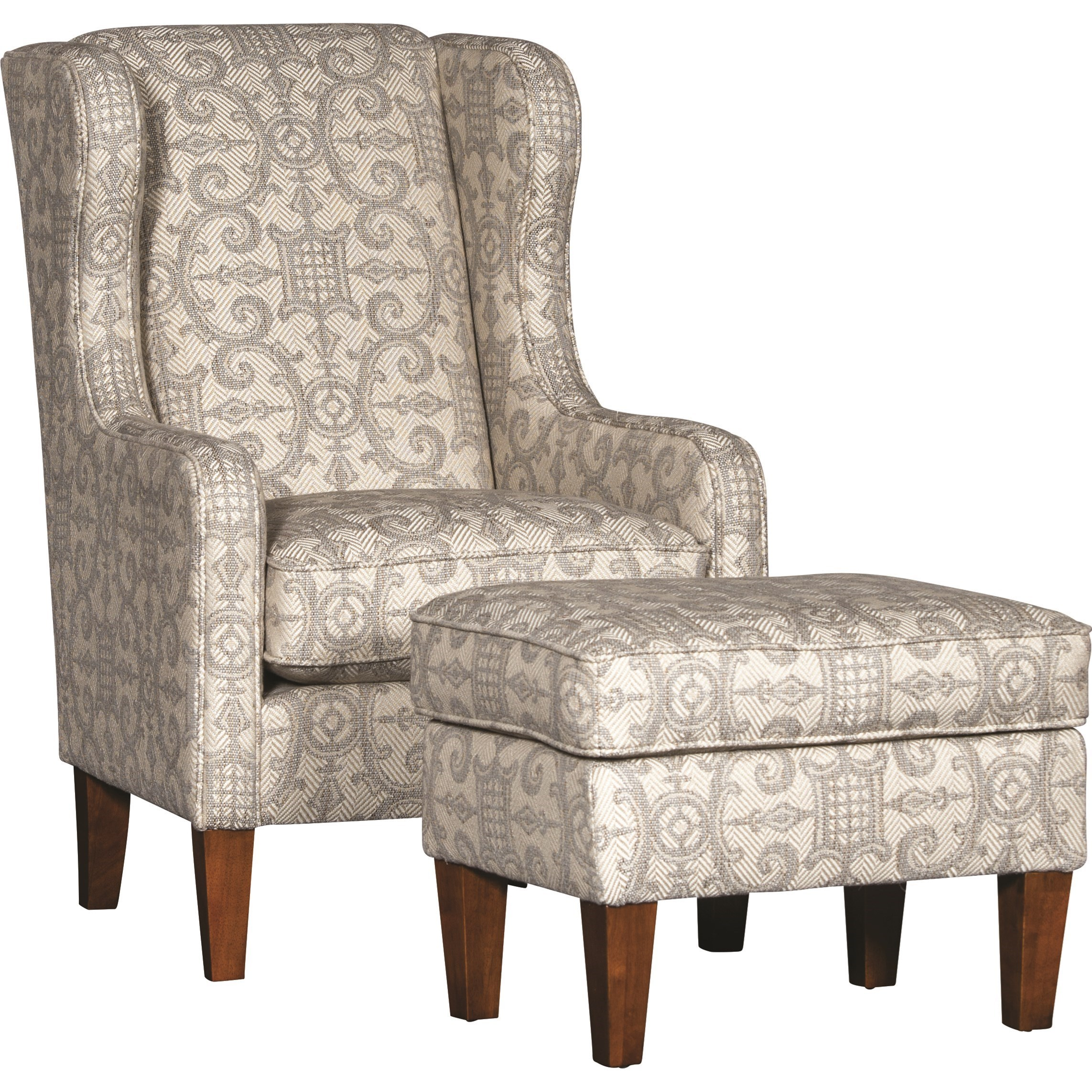 5520 Chair and Ottoman by Mayo at Wilson's Furniture