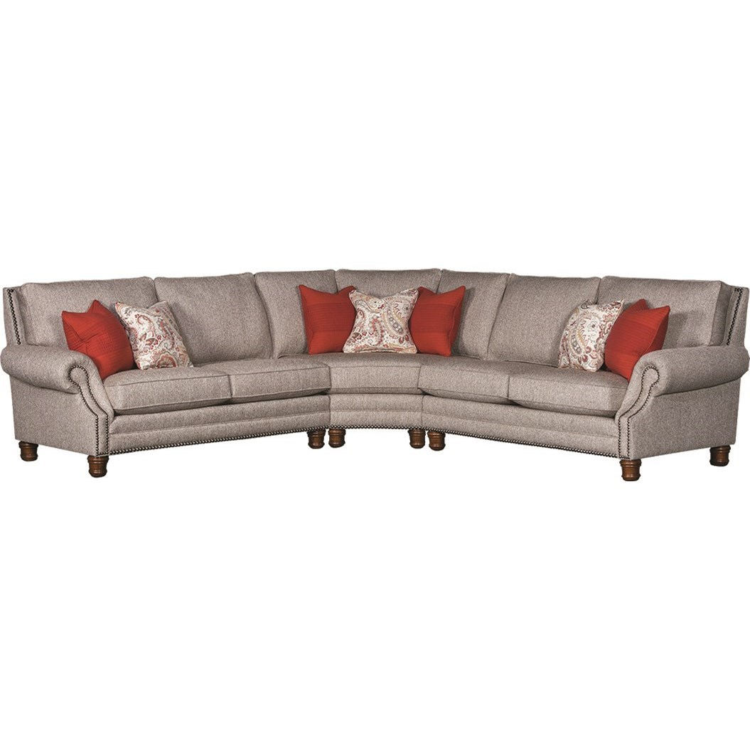5790 Sectional Sofa by Mayo at Wilson's Furniture