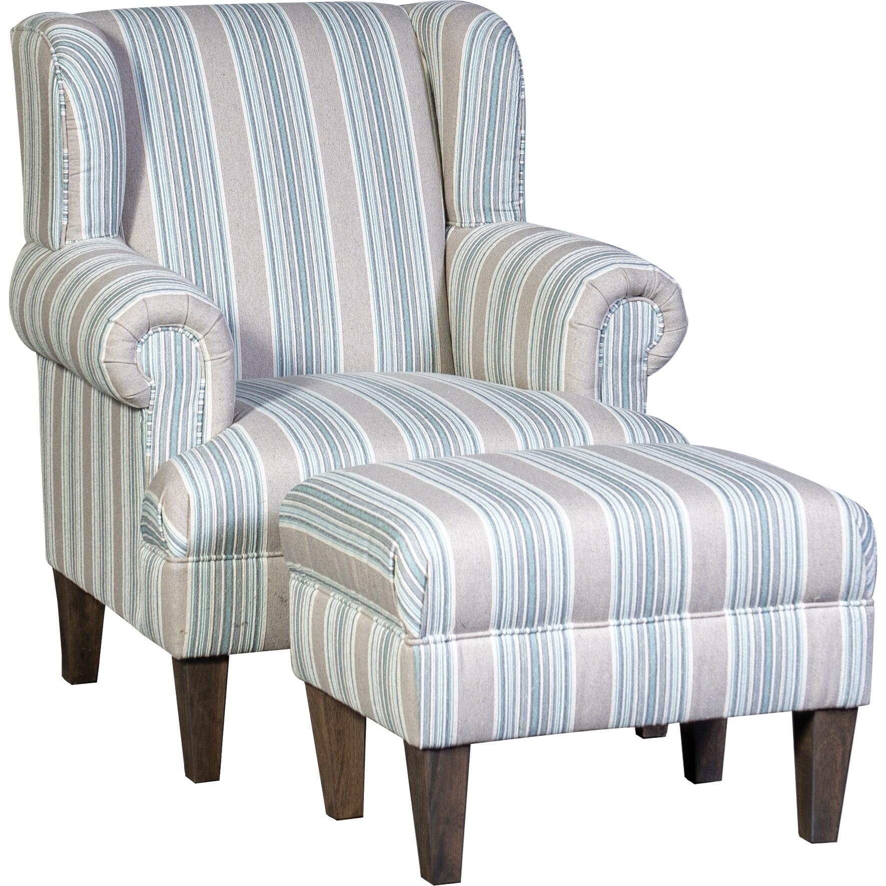 6060 Chair and Ottoman by Mayo at Pedigo Furniture