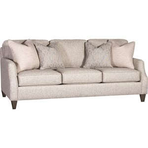 Casual Sofa with Four Throw Pillows