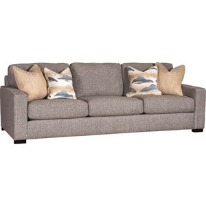 Contemporary Sofa with Wide Track Arms