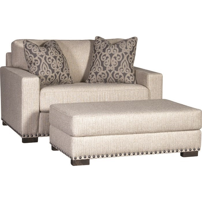 7101 Chair and Ottoman by Mayo at Wilson's Furniture