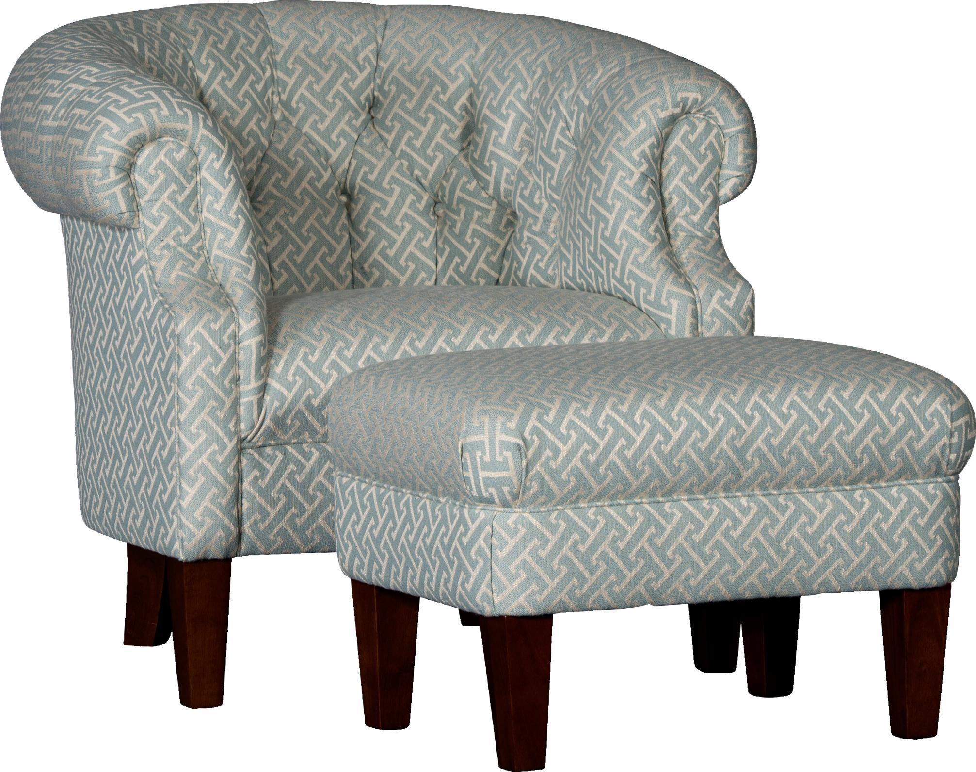 8220 Tub Chair & Ottoman Set by Mayo at Pedigo Furniture