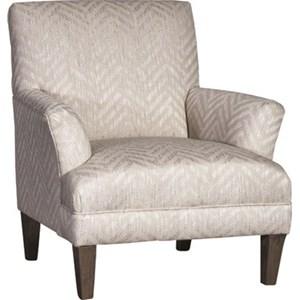 Transitional Chair with Flare Tapered Arms
