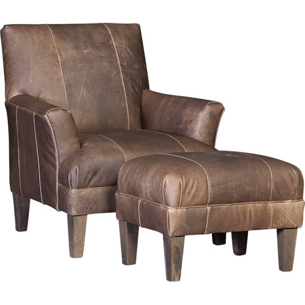 8631 Chair and Ottoman by Mayo at Wilson's Furniture